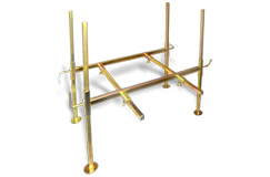Gold Cube Zinc Plated Stand