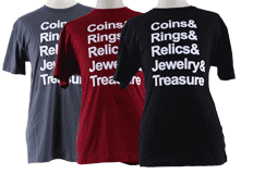 Kellyco Coins, Rings, Relics, Jewelry, Treasure T-Shirt