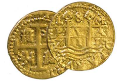 Kellyco 1714 Treasure Coin Replica (Only One Coin Included)