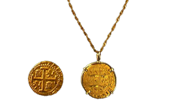 "Kellyco 1714 Treasure Coin Replica with 20"" chain"