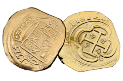 Kellyco Spanish 8 Escudos Gold Coin Replica