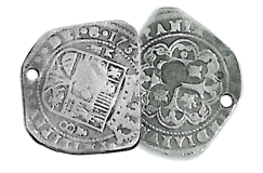 Kellyco 1733 Spanish 8 Reale Silver Treasure Coin Replica
