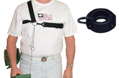 Lejermon Enterprises Chest Harness with Round Clamp For Round Shaft Detectors
