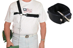 Lejermon Enterprises Chest Harness with Square Clamp For Square Shaft Detectors