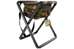 Rothco Camouflage Folding Steel Chair w/ Storage Pouch
