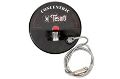 "Tesoro 5.75"" Round Concentric Search Coil with Long Cable & Coil Cover (4 Pin)"