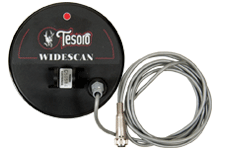"Tesoro 5.75"" Round Widescan Search Coil with Long Cable & Coil Cover (4 Pin)"