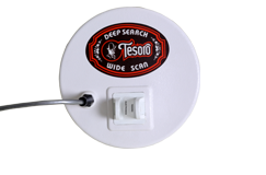 "Tesoro 8.5"" Round Widescan Search Coil with Long Cable (4 Pin)"