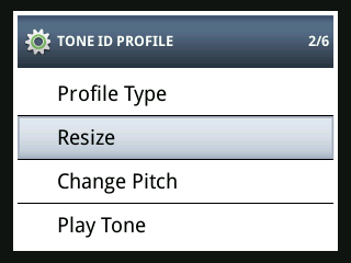 CTX 3030 screenshot: Resize Menu