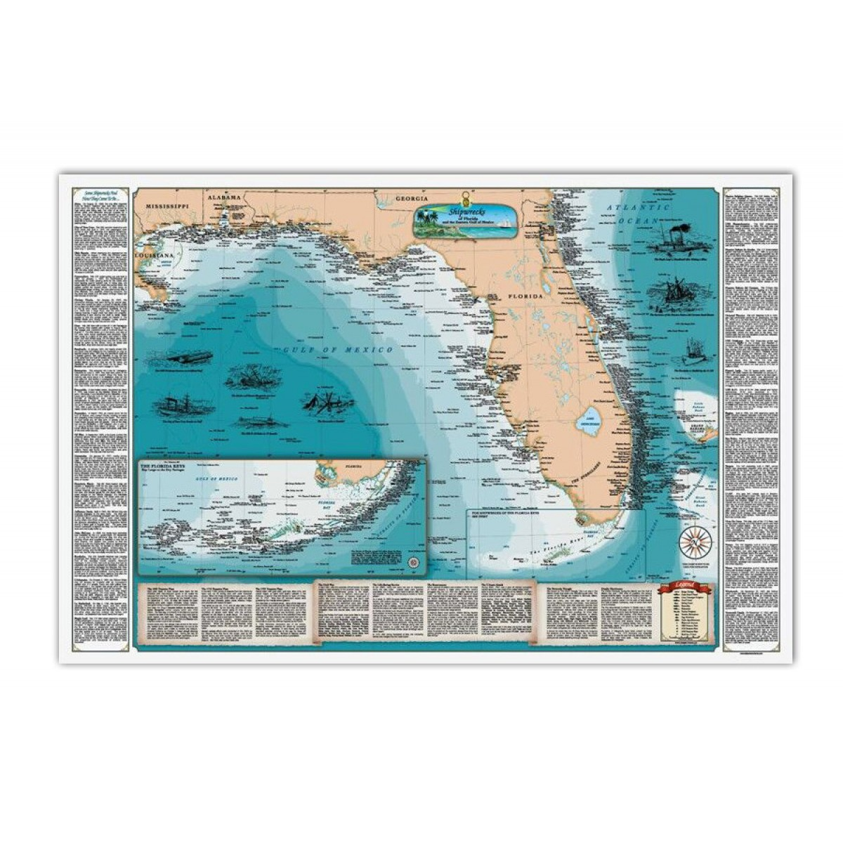 fl and the gulf of mexico shipwreck map kellyco