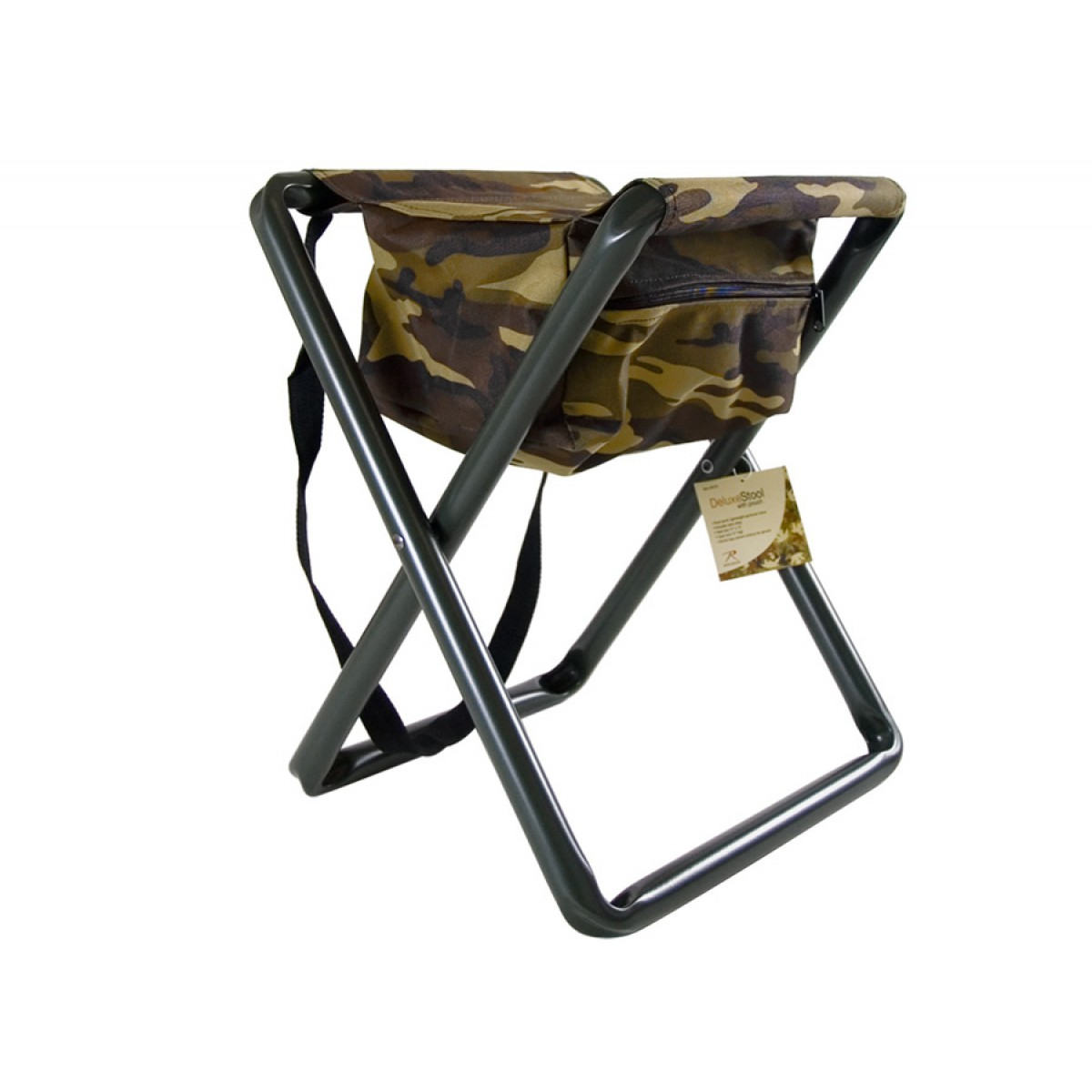 Rothco Camouflage Folding Steel Chair with Storage Pouch Kellyco