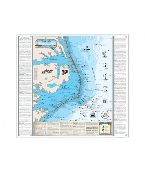 NC Shipwreck Chart - Paper (Cape Hatteras / Outer Banks) 1001 Image 1