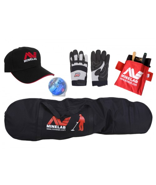 Free Minelab Gloves,Pouch,Carry Bag, DVD, Baseball Hat