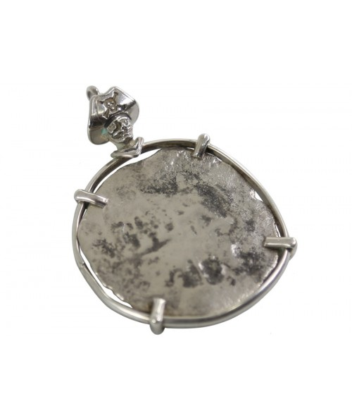 Kellyco Silver Spanish Piece of 8 Pirate Pendant 2 Image 1