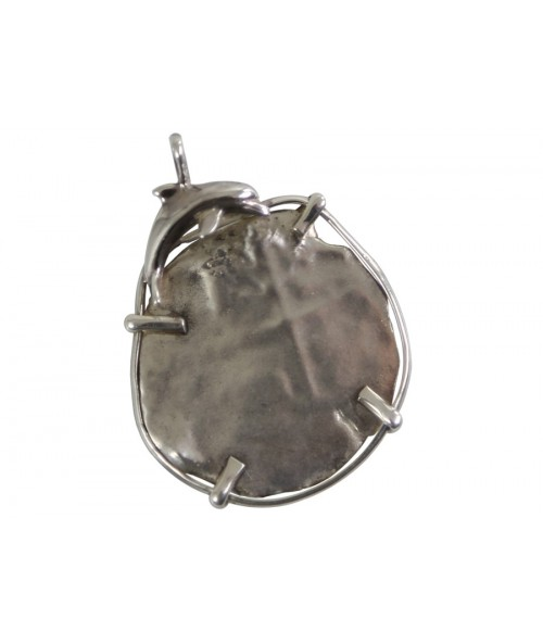 Kellyco Silver Spanish Piece of 8 Dolphin Pendant (Jumping Right) 6 Image 1