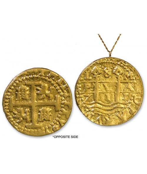 "Kellyco 1714 Treasure Coin Replica with 20"" Chain 04N20 Image 1"