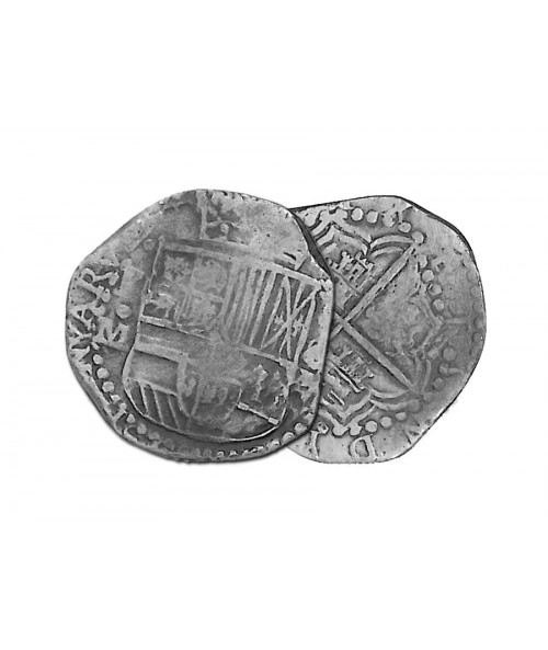 Spanish 8 Reale Treasure Coin Replica Image 1