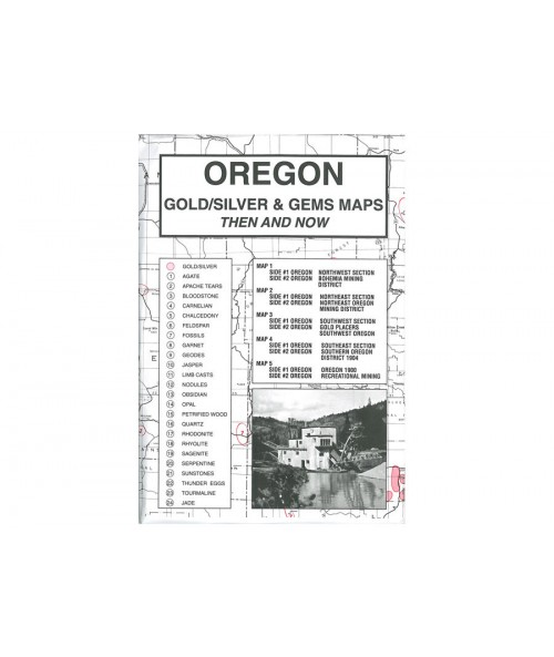 Kellyco Oregon Gold / Silver & Gems Maps OR Image 1