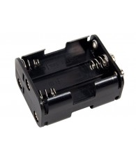 6 AA Cell Battery Holder - Short
