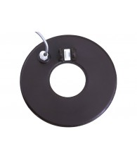 "8"" Round Concentric Search Coil with Short Cable (5 Pin)"