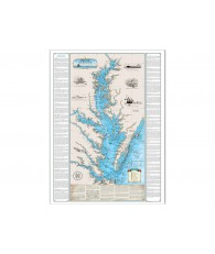 Shipwrecks of Chesapeake Bay Map (Havre De Grace / Norfolk)