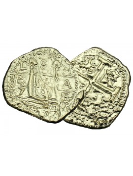 Spanish 2 Reale Treasure Coin Replica Image 1