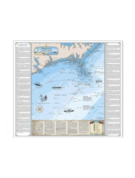 NC Shipwreck Chart - Paper (Cape Lookout / New River) 1005 Image 1