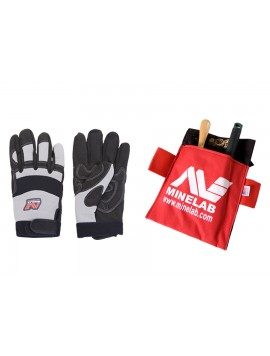 Free Minelab Gloves and Pouch