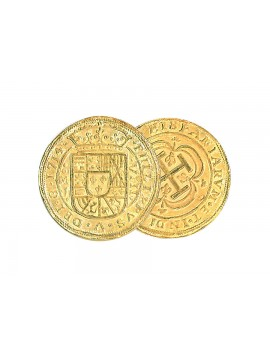 Kellyco Spanish 8 Escudos Gold Royal Doubloon Coin Replica 01 Image 1