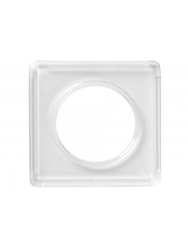 "Kellyco Silver Round 2x2"" Plastic Holder 9736 Image 1"
