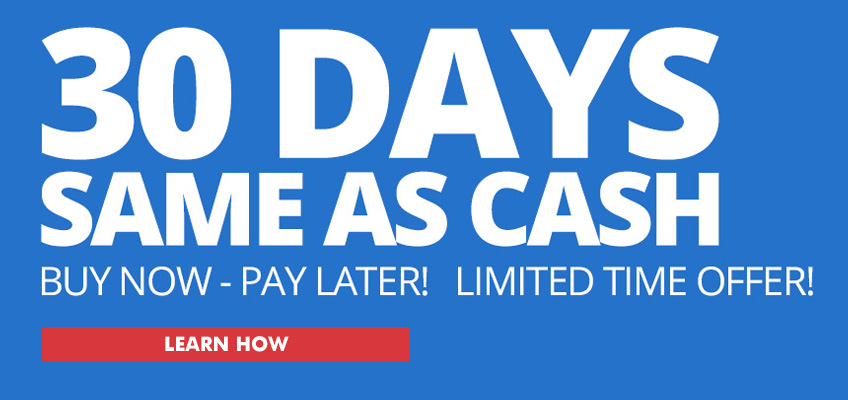 30 Days Same As Cash Financing