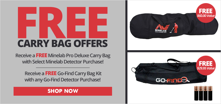Free Minelab Carry Bag Offers