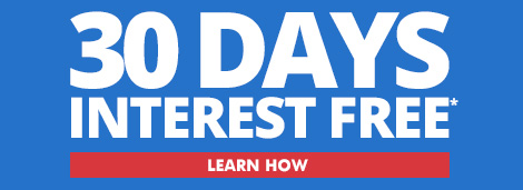 30 Day Interest Free Financing