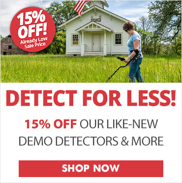 15% Off Demo Metal Detector Sale