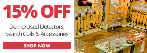 15% Off Demo/Used Detectors & Accessories