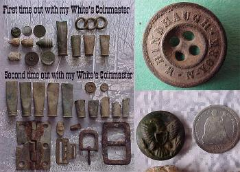 Found with White's Coinmaster Metal Detector