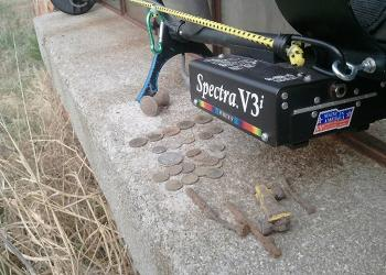 Found with White's Spectra V3i Metal Detector